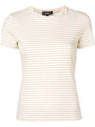Theory Shima Striped T Shirt Neutrals
