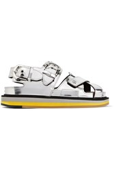 Maison Martin Margiela Mirrored Leather Sandals Silver