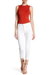Nydj Rachel Stretch Roll Cuff Ankle Jean Petite White