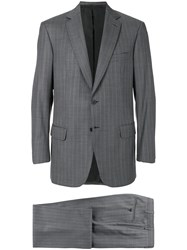 Brioni Loose Fit Suit Cupro Wool Grey