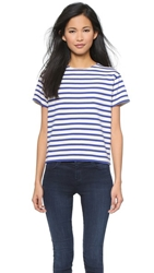 Nlst True Stripe Tee Blue With Ecru Stripe