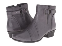 Earth Atlas Grey Calf Leather Women's Boots Gray