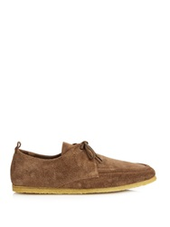 Burberry Crepe Sole Suede Shoes
