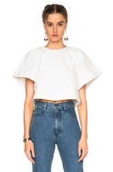 Rachel Comey Cropped Ravine Top In White