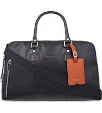 Ted Baker Tiktoc Leather Bowling Bag Navy