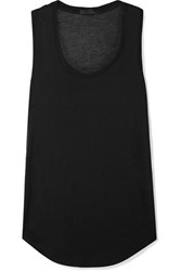 Atm Anthony Thomas Melillo Sweetheart Stretch Modal Jersey Tank Black