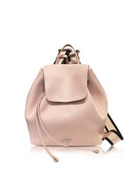 N 21 Nude Leather Backpack W Canvas Shoulder Straps