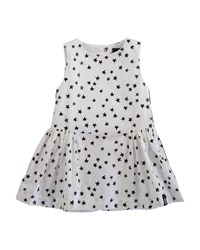 Molo Carmen Poplin Scattered Star Dress White
