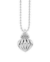 Fluted Pendant Necklace 34'L Lagos Silver