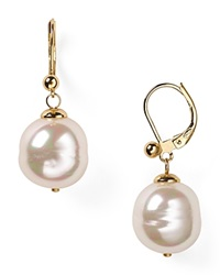 Majorica Baroque Simulated Pearl Drop Earrings White Gold
