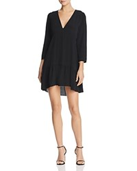 Ella Moss Havyn V Neck Mini Dress Black