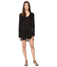 Athena Paige Tunic Cover Up Black Women's Swimwear