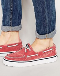 Sperry Topsider Bahama Boat Shoes Red