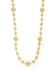 Azaara 22K Yellow Gold Plated Filigree Station Necklace