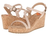Rocket Dog Eldora Natural Breaker Women's Wedge Shoes Beige