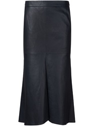 Tibi Inverted Front Pleat Skirt Black