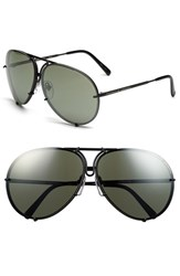 Porsche Design Men's 'P8478' 66Mm Aviator Sunglasses Black Matte