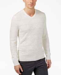Alfani Men's Mercerized Wool Sweater Only At Macy's Bright White