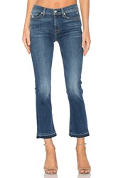 7 For All Mankind Raw Hem Distressed Crop Boot Manchester Square