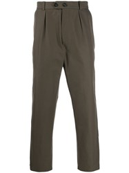 Alexander Mcqueen Side Tape Cropped Trousers 60