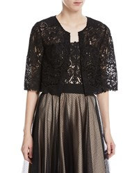 Catherine Deane Kalista Graphic Lace Topper Jacket Black