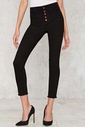 Nasty Gal High Rise Wide Shut Skinny Jeans