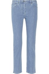 The Row Norland Mid Rise Straight Leg Jeans Blue