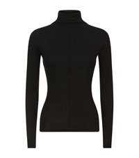 Maje Titan Roll Neck Long Sleeve T Shirt Female Black