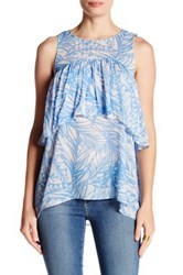 Plenty By Tracy Reese Tiered Flounce Tank Multi