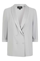 Topshop Petite Double Breasted Blazer Taupe