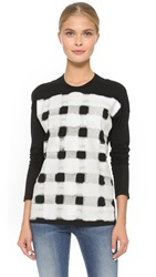 Cedric Charlier Long Sleeve Top Black White