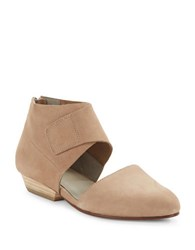 Eileen Fisher Calia Nubuck Leather Cutout Booties Earth