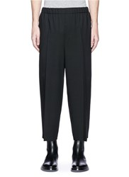 Mcq By Alexander Mcqueen Cropped Virgin Wool Jogging Pants Black