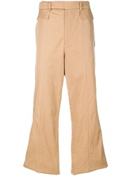 Di Liborio Wide Leg Long Trousers Nude And Neutrals