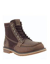 Timberland Grantly Two Tone Leather And Suede Ortholite Boots Dark Brown