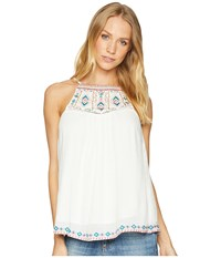 Miss Me Back Tassel Embroidered Top White Clothing