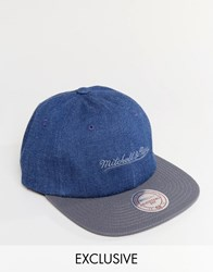 Mitchell And Ness Cap Adjustable Exclusive To Asos Blue