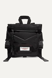 Givenchy Leather Trimmed Shell Backpack Black