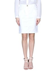 Armani Jeans Skirts Knee Length Skirts Women White