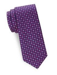 Saks Fifth Avenue Patterned Silk Tie Pink