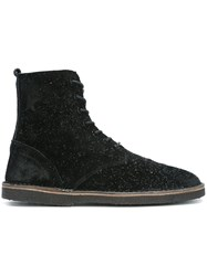 Golden Goose Deluxe Brand Lace Up Ankle Boots Black