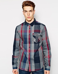 Bench Checked Shirt Navy