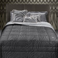 Roberto Cavalli Limited Edition Macro Zebrage Bed Set Grey Super King