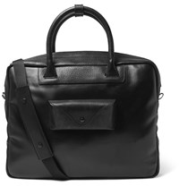 Maison Martin Margiela Leather Trimmed Coated Canvas Briefcase Black