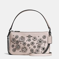 Coach Nolita Crossbody 24 In Willow Floral Dark Gunmetal Grey Birch