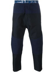Jil Sander Patched Cropped Trousers Blue