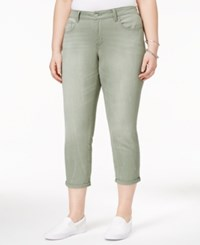 Jessica Simpson Trendy Plus Size Ripped Cropped Skinny Jeans Shadow Rocco
