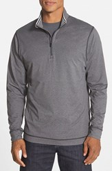 Cutter And Buck Men's 'Topspin' Drytec Half Zip Pullover Charcoal Heather