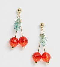 Glamorous Cherry Beaded Drop Earrings Multi