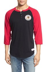 Men's Mitchell And Ness 'Chicago Blackhawks Unbeaten' Three Quarter Sleeve Henley